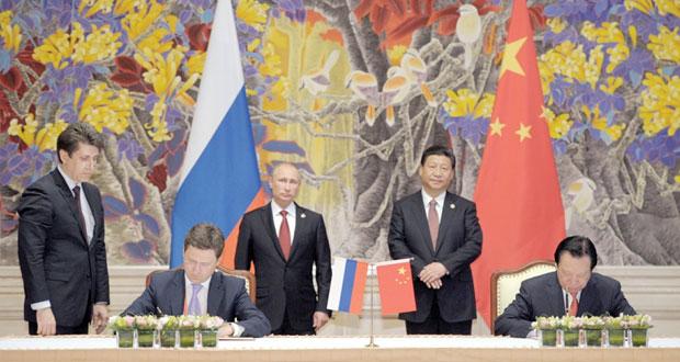 روسيا والصين توقعان عقدا قياسيا لتوريد الغاز بـ 400 مليار دولار