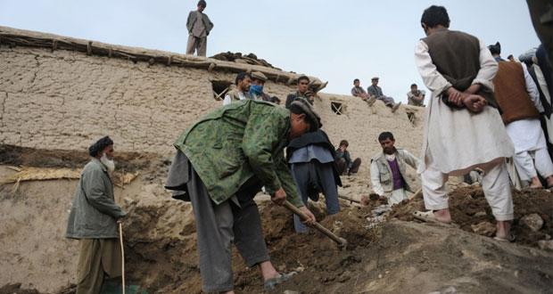 جلالة السلطان يعزي قرضاي.. 300 قتيل و4 آلاف مشرد بالانهيار الأرضي بأفغانستان