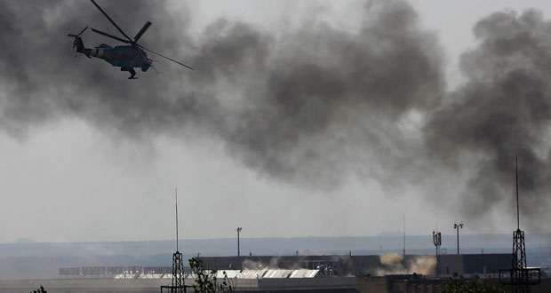 موسكو تدعو لوقف العمليات العسكرية شرق أوكرانيا وياتسينيوك متمسك بالوساطة الأوروبية لحل الأزمة