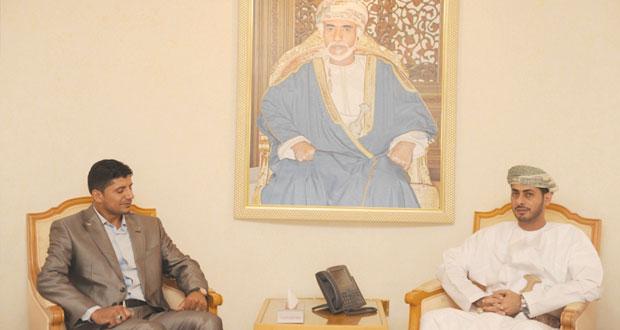 وزير الشؤون الرياضية يستقبل رئيس الاتحاد الفلسطيني لألعاب القوى