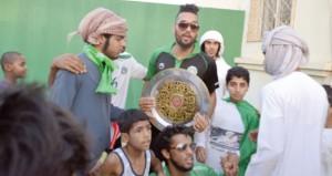 استقبال حافل لـ النهضة (أبطال الدوري) ومسيرات حاشدة شهدتها محافظة البريمي