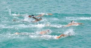 منتخبنا الوطني يواصل استعداداته للبطولة الخليجية للسباحة بالمياه المفتوحة