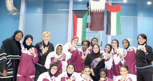 قطر تتوج بلقب خليجي فتيات السلة والإمارات وصيفا والكويت ثالثا