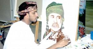 سعود الحنيني وأماني الفقيه يقدمان حلقة عمل فنية في مجال الرسم الزيتي للفنانين التشكيليين بمحافظة ظفار