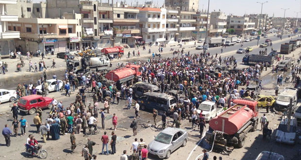 السوريون يجددون دعم الاستحقاقات وإرهابيون يفجرون مفخختين بحمص