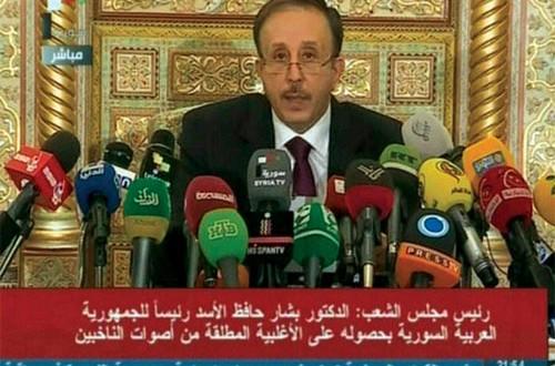 سوريا: الأسد رئيسا بـ(88%) والمشاركة تفوق (73%)