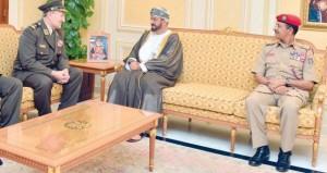 بدر بن سعود والنبهاني والعبيداني يستقبلون رئيس أركان الدفاع الكرواتي