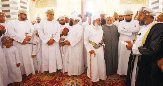 الخليلي يرعى افتتاح جامع محمد الأمين بولاية بوشر