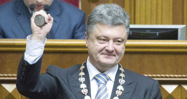 بوروشنكو ينصّب رئيساً لأوكرانيا ويعد بالحفاظ على وحدتها وتوجهها الأوروبي