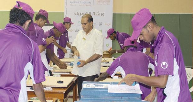 تواصل فعاليات معسكر شباب أندية السلطنة باستضافة المجمع الرياضى بصحار