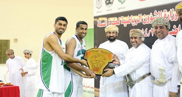اليوم .. أهلي سداب يكرم فريق كرة السلة بطل مسابقة درع الوزارة