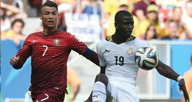 البرتغال ورونالدو يودعان من الباب الصغير بصحبة غانا