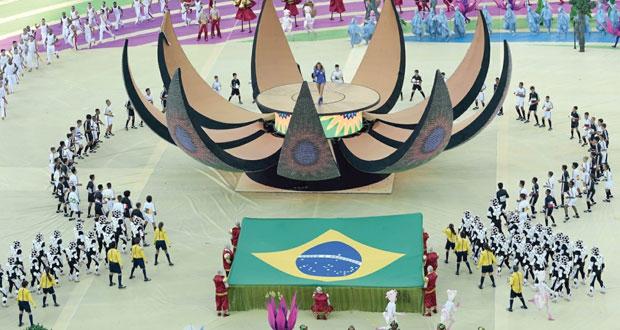 حفل افتتاح المونديال يصنع البهجة في قلوب البرازيليين