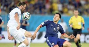تعادل اليونان واليابان يؤهل كولومبيا إلى الدور الثاني