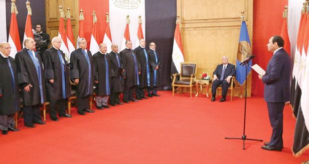 مصر: السيسي يؤدي اليمين ويتعهد ببناء دولة قوية ديمقراطية وعادلة