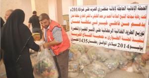 الفلاح الخيرية في فلسطين توزع مساعدات عُمانية اغاثية عاجلة لمتضرري الحرب في غزة
