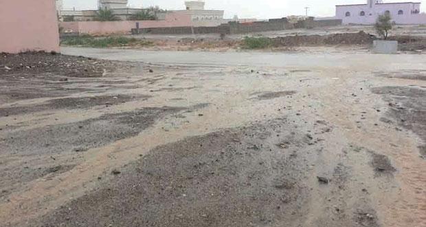أمطار ورياح قوية على ولاية المضيبي