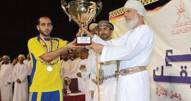 فريق النصر بنادي بهلاء يتوج بطلا لدوري النادي ( شجع فريقك)