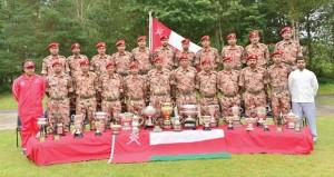 فريق قوات السلطان المسلحة للرماية يختتم مشاركته الناجحة بالبطولة العسكرية الدولية للرماية بالمملكة المتحدة