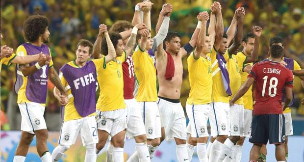 سامبا البرازيل تتألق وتسقط نسور كولومبيا