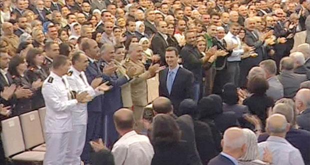 الأسد يؤدي اليمين ويحذر رعاة الإرهاب بـ(دفع الثمن)