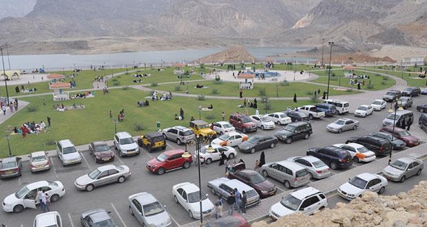 28380 زائرا لسد وادي ضيقة خلال إجازة عيد الفطر المبارك