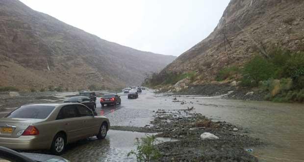 أمطار متفاوتة على ولاية ضنك أدت لجريان الشعاب