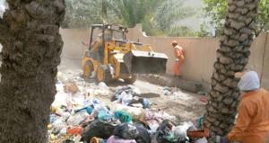 جهود كبيرة لبلديات الداخلية للتخلص من المخلفات