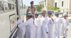 تسيير الدوريات المرورية حول المدارس في مختلف محافظات السلطنة مع بداية العام الدراسي الجديد