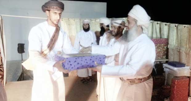 تكريم الفائزين في مسابقة القرآن الكريم بولاية دماء والطائيين