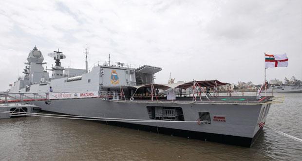الهند تضم لأسطولها أكبر مدمرة محلية الصنع