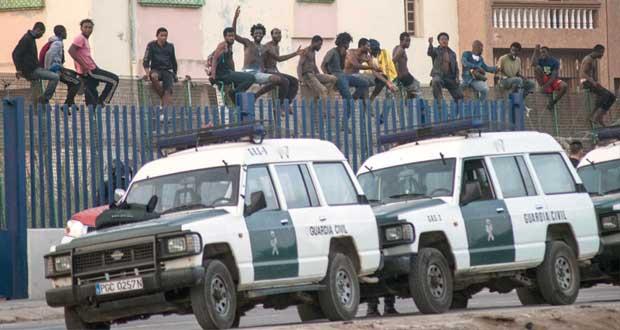 إحباط محاولة 250 إفريقيا التسلل إلى مليلية الإسبانية
