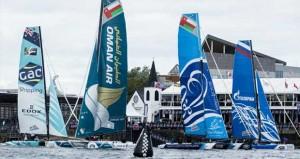 قوارب عُمان للإبحار تستهل جولة قويّة من سلسلة سباقات الإكستريم بمدينة كارديف البريطانية