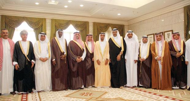 تركي عبد العزيز يحتفل برؤساء الوفود المشاركة في خليجى 22