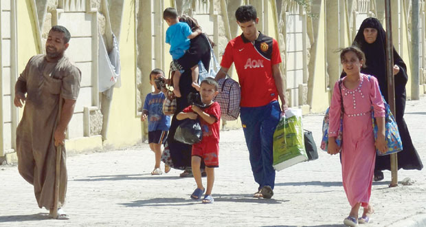 العراق: نزوح جماعي من مناطق (داعش) ومجلس الأمن إلى تشاور عاجل