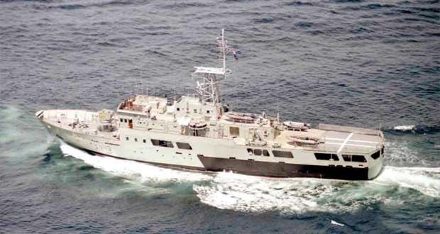 خروج سفينة البحرية السلطانية العمانية (المبروكة) من الخدمة