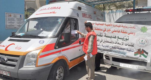 تواصل توزيع المساعدات العمانية على المتضررين من العدوان الإسرائيلي على غزة
