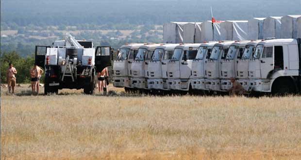 روسيا تُسير قافلة إغاثة للمتضررين من القتال شرق أوكرانيا رغم حملات الرفض