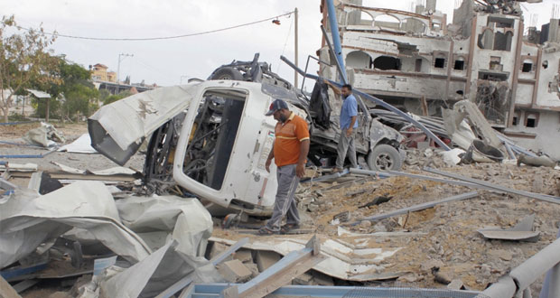 """العرب يرحبون بـ """" التهدئة """" ودعوات لدعم إعادة إعمار غزة"""