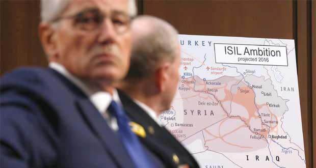 أميركا توسع قصفها لجوار بغداد وتلوح بغارات بسوريا وتركيا تتحدث عن (عازلة)