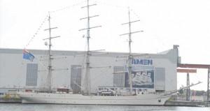 """البحرية السلطانية العمانية تحتفل باستلام السفينة """"شباب عمان 2″ بمملكة هولندا"""