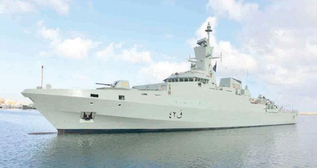 النبهاني يرعى احتفال البحرية السلطانية العمانية باستقبال السفينة «الراسخ »
