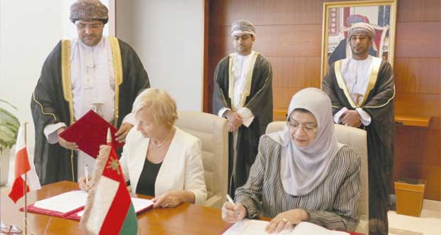 توقيع مذكرة تفاهم في مجال العلوم والتعليم العالي بين السلطنة وبولندا