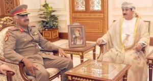 سلطان النعماني و مطر البلوشي يستقبلان آمر القوات البرية نائب رئيس الأركان العامة للجيش الكويتي