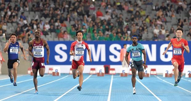 في منافسات دورة الألعاب الآسيوية ..بركات الحارثي سابعا في نهائي سباق 100 متر