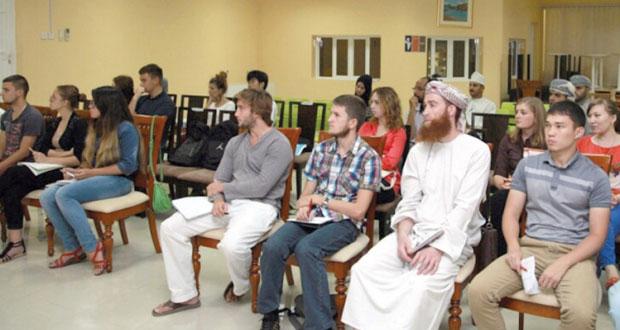 """محاضرة بعنوان """"ملامح من الحضارة العُمانية"""" بكلية السُّلطان قابوس لتعليم اللغة العربية للناطقين بغيرها"""
