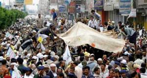 صنعاء: الداخلية تفض اعتصامات المطار والحوثيون يتوعدون بالتصعيد