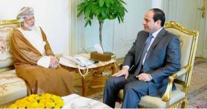 رسالة من جلالة السلطان للرئيس المصري