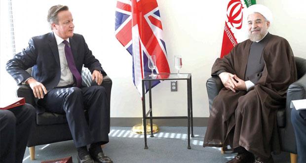 إيران تدشن حقبة التقارب مع الغرب بمباحثات روحاني ـ كاميرون التاريخية