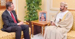 بدر بن سعود يستقبل سفير المملكة المتحدة